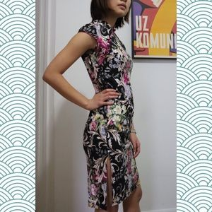 Dresses & Skirts - ❌SOLD❌ Floral Knee-Length Qipao Dress